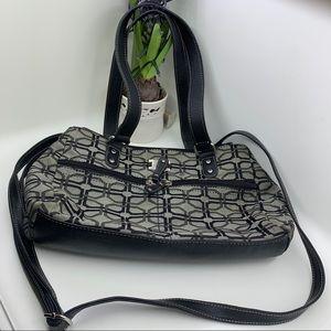 Women satchel bag black and gray